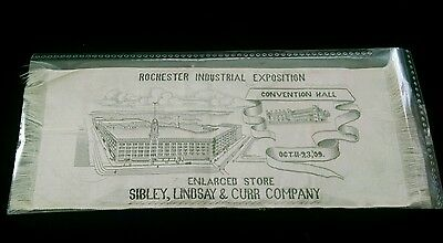 Antique 1909 Rochester Industrial Exposition Ribbon Sibley's Convention Hall