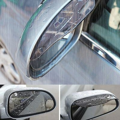 Transpant Car Accessories Rain Cover Rainproof Mirror Eyebrow Rearview Shade