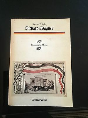 Wagner by zelinsky with inscription to colin davis 1976 , signed