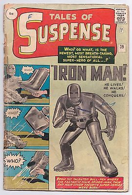 Tales of Suspense #39 GD- 1.8 First Appearance of Iron Man First Print