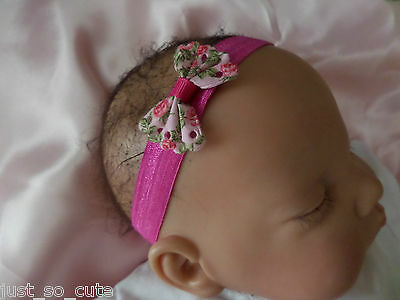 Sweet Baby Headband Bow Elastic Band Flower 0-3 Months Hair Accessorise