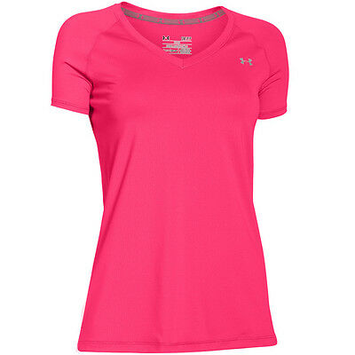 Under Armour HeatGear Damen T-Shirt Women Short Sleeve Harmony Red 1269102-962