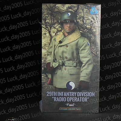 """DID A80115 WWII US 29th Infantry Division Radio Operator """"Paul"""" 1/6 Figuren"""