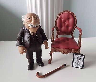 MUPPETS Jim Henson Palisades - WALDORF with Chair - MUPPET SHOW Loose RARE