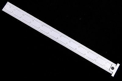"""New precision12"""" machinist 4R hook ruler/rule with 1/8, 1/16, 1/32, 1/64 grads"""