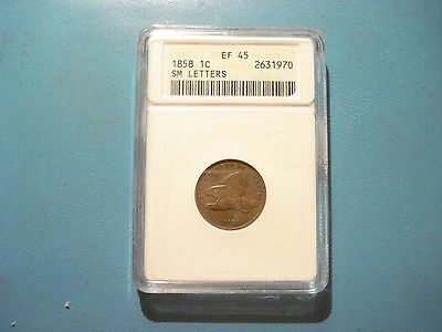 1858 One Cent Flying Eagle Small Letters EF45