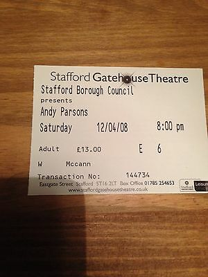 Andy Parsons Ticket Stub