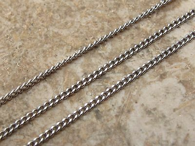 "Antique Sterling Silver 925 Fine Chain Necklace 16"" Long"