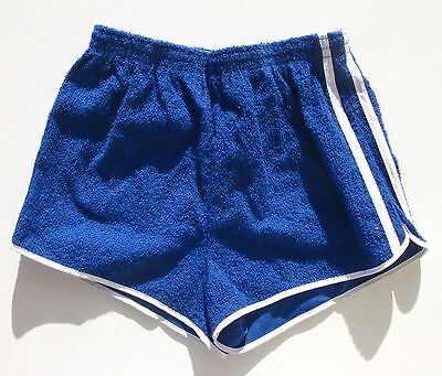 Short de Tennis homme  - Vintage authentique - 2 Bandes Bleu- France - T 36 -