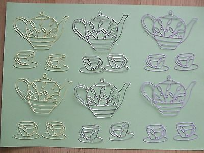 Teapot and Cups Die cuts