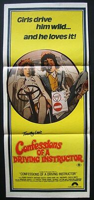 Confessions Of A Driving Instructor  Original Daybill Poster Robin Askwith 1976