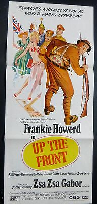 Up The Front Original 1972  Daybill Poster Frankie Howerd Zsa Zsa Gabor