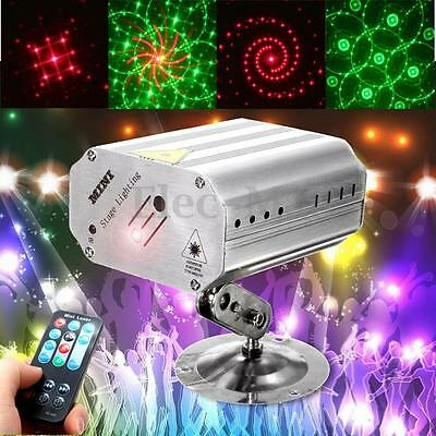 Voice Control Flash LED R&G Laser Projector Stage Lighting DJ Disco Party Club