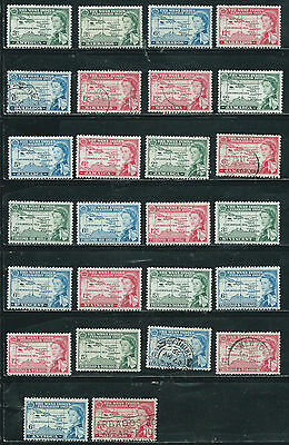 West Indies Federation Issue - 1958 - 26 stamps mixed - Common Design Types