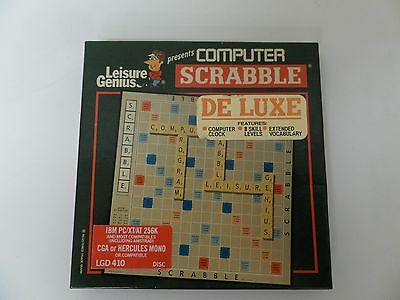"Vintage Scrabble Computer Game from Leisure Genius.  PC 5.25"" disc"