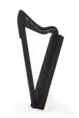 "26-String, 33"" LAP Harp HARPSICLE Rees Harps Made in USA, Black"