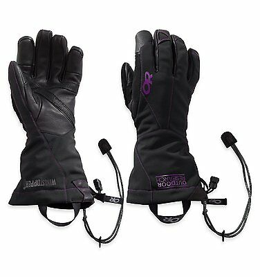 Outdoor Research Womens Luminary Sensor Gloves, Black/Ultraviolet, Large