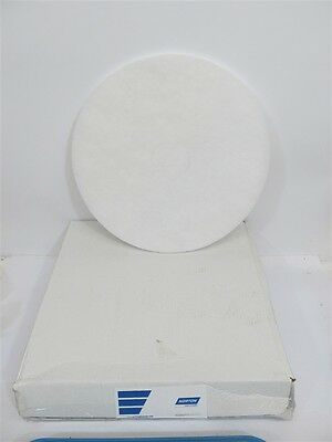 "Norton 66261054209, 17"" White Super Gloss Floor Maint. Pads - 1 pkg of 5 pads"