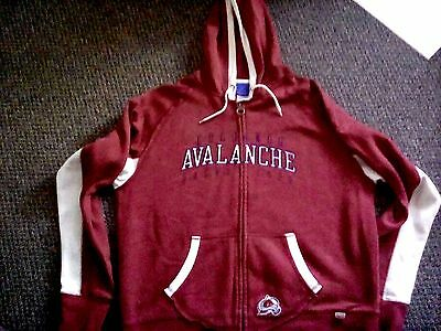"Colorado Avalanche Ice Hockey Reebok Hoodie / Jacket XL 46"" chest Great item!"