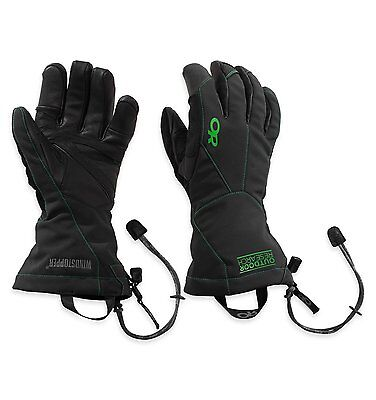 Outdoor Research Mens Luminary Sensor Gloves, Black/Flash, Large