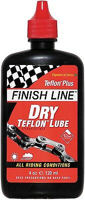 Finish Line DRY Teflon Bike Cycle Chain Lube Lubricant 8oz 240ml Workshop Bottle