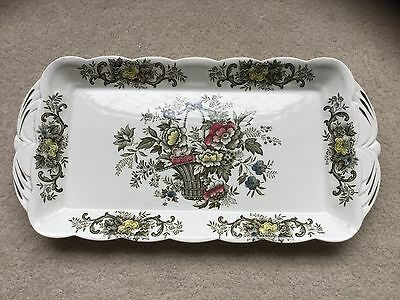 Vintage - Ridgway - Old English Bouquet - Oblong Tray/Platter - Staffordshire