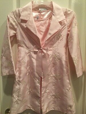 Bonnie Jean Girls Pink 2 Piece Dress Size 7 Party/pictures/evening
