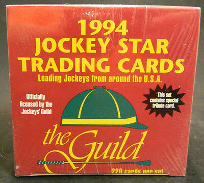 Vintage 1994 Jockey Star Trading Cards Box Factory Sealed New IN Box