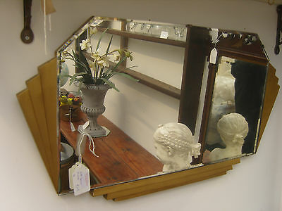 Art Deco Style Bevelled Wall Mirror