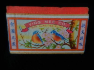 Antique Ying Mee Co Woo Lung  Tea Oriental Box  & Tin China