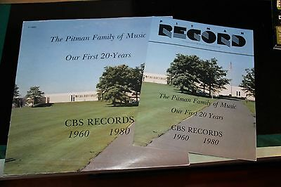 SPRINGSTEEN / DYLAN - PITMAN FAMILY LP - RARE - with book