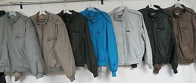 LOT OF 16 MEMBERS ONLY JACKETS CAFE RACER 80s ZIP FRONT SOME LINED BLACK GRAY M