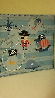Children's pirate canvas prints from NEXT