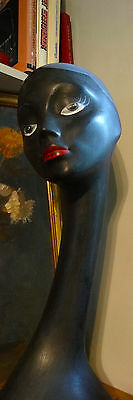 vintage 1960s swan neck mannequin bust head shop display millinery jewellery