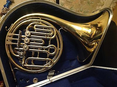 Danor F/Bb Compensating Double Horn with Hard Case and Mouthpiece. Serviced.