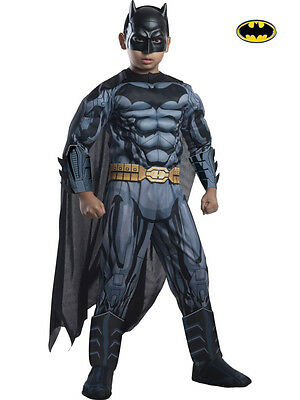 DC COMICS BATMAN DELUXE MUSCLE CHILD COSTUME Halloween Cosplay Fancy Dress B3