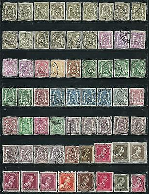 Belgium - 62 old stamps mixed - Years 1935 to 1941