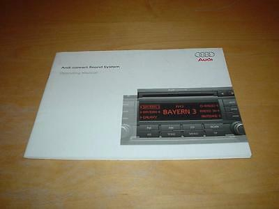 AUDI CONCERT AUDIO CD SOUND SYSTEM BOOK A2 A3 A4 A5 A6 Owners Handbook Manual