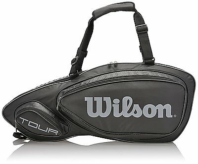 Wilson Tour V (3-pack) Tennis Bag, Black, WRZ843603