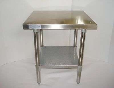 """24x24"""" Stainless Steel Commercial Kitchen CALIF RESTAURANT EQUIP Food Prep Table"""