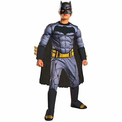 BATMAN DAWN OF JUSTICE MUSCLE CHILD COSTUME Halloween Cosplay Fancy Dress B3