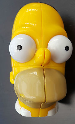 Rare Homer Simpson Rubik's Cube Puzzle - The Simpsons Collectable 2001 Head