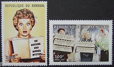 Senegal 1999 Sc 1426-7 MNH - Lucille Ball, I Love Lucy, TV Sitcom - combine post