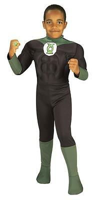 GREEN LANTERN JUSTICE LEAGUE CHILD COSTUME Halloween Cosplay Fancy Dress B3