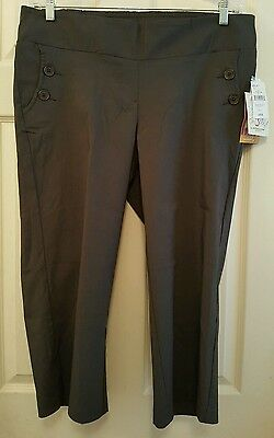 NEW Oh Baby L Motherhood Pants Capris Maternity Underbelly Rayon Green NWT  2H