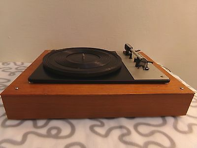 Vintage Turntable TESLA HC13 in Plywood Chassis Good Condition No Pick-Up