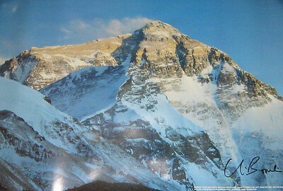 Rare Sir Chris Bonington Autographed Poster/Print (Everest Mountaineering)