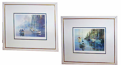 Pair of KIFF HOLLAND Sailing Boat Prints - Signed by the Artist Himself