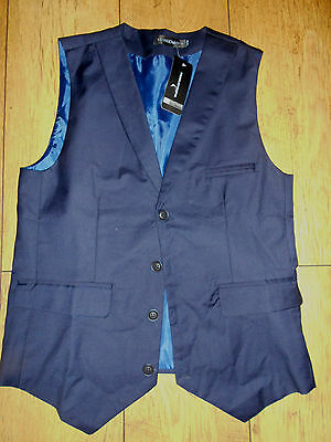 Mens Waistcoat Taonichaopin Blue New Chest 32 Inches
