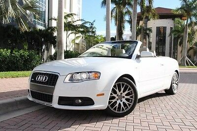 2009 Audi A4 Cabriolet Convertible 2-Door 2009 Audi A4 2.0T S-Line Convertible HTD Seats,Convenience PKG,Clean CARFAX!